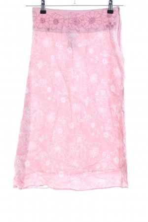 Fransa Bleistiftrock pink Blumenmuster Elegant