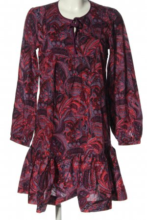 Fransa Robe chemisier violet-rose motif abstrait style décontracté