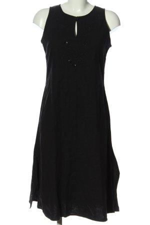 Fransa Blusenkleid schwarz Schriftzug gestickt Casual-Look