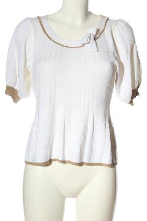 Fransa Fine Knit Jumper white-brown striped pattern casual look