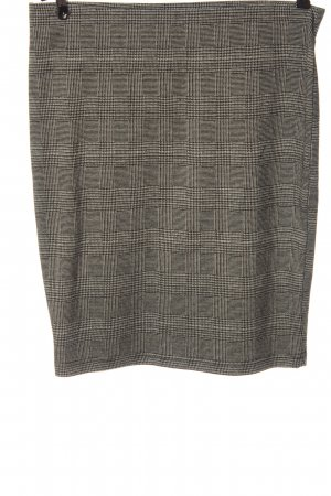 Fransa High Waist Skirt light grey allover print casual look