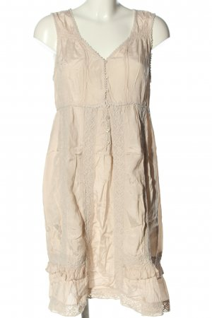 Fransa Hippie Dress cream casual look