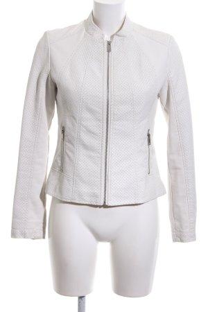 Fransa Giacca in ecopelle bianco motivo a pallini stile casual