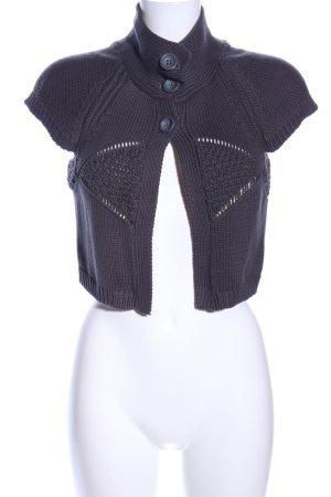 Fransa Short Sleeve Knitted Jacket light grey casual look