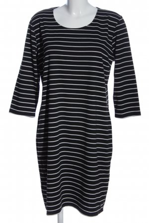 Fransa Langarmkleid schwarz-weiß Streifenmuster Casual-Look