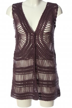 Fransa Long Knitted Vest lilac casual look