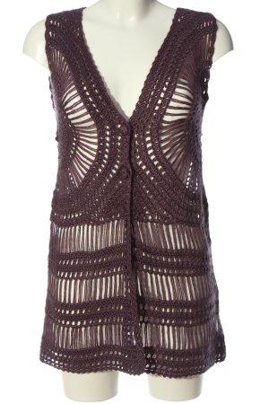 Fransa Gilet long tricoté violet style décontracté
