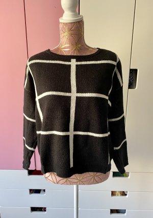 Fransa Pullover schwarz weiß Größe S