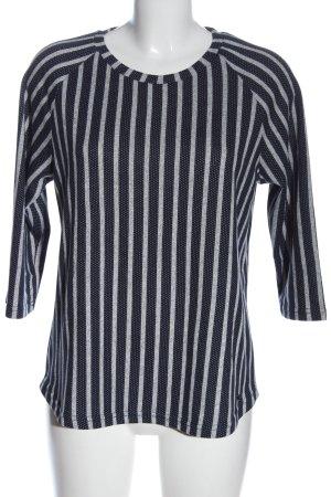 Fransa Stripe Shirt blue-light grey allover print casual look