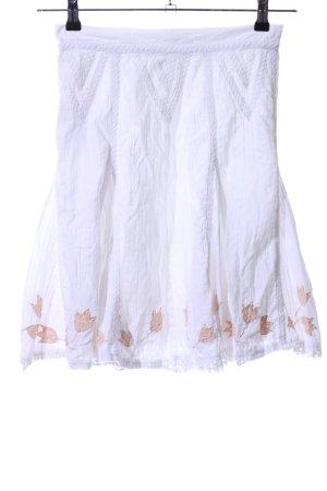 Fransa Falda de encaje blanco estampado floral look casual