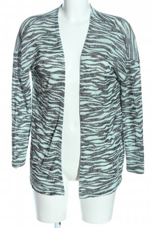 Fransa Knitted Cardigan turquoise-black animal pattern casual look