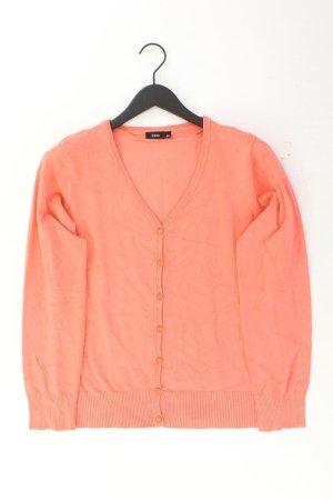 Fransa Strickjacke Größe L Langarm orange aus Viskose