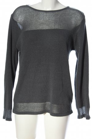 Fransa Knitted Sweater light grey casual look