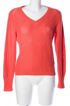 Fransa Knitted Sweater red casual look