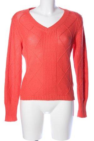 Fransa Pull tricoté rouge style décontracté