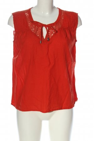 Fransa Knitted Top red casual look