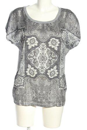 Fransa T-Shirt hellgrau abstraktes Muster Casual-Look