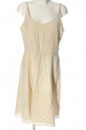 Fransa Pinafore dress natural white-gold-colored allover print casual look