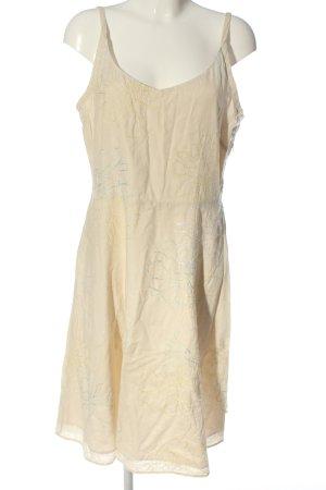 Fransa Robe à bretelles blanc cassé-doré imprimé allover style décontracté