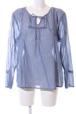 Fransa Transparenz-Bluse blau Casual-Look