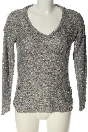 Fransa Maglione con scollo a V grigio chiaro stile casual