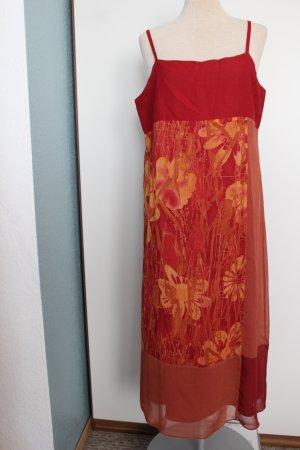 Fransa Vision Herbstkleid Gr. L rostrot ocker  Trägerkleid herbstbunte Farben Eyecatcher