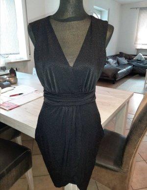 Fransa Wickelkleid festliches Kleid Abendkleid schwarz Gr. S