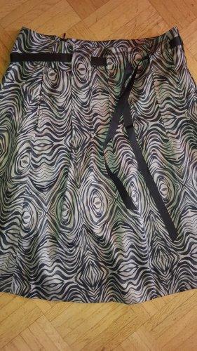 Fransa Cirkelrok zwart-lichtbruin Katoen