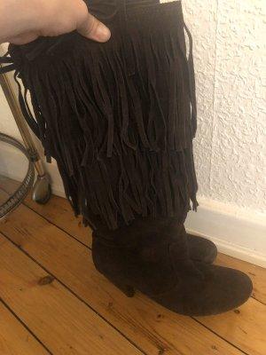 Botas estilo vaquero marrón oscuro