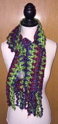 Bufanda de ganchillo multicolor