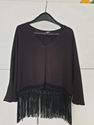 H&M Chaqueta tipo blusa negro