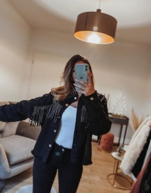 Boutique Comtesse Jeansowa kurtka czarny