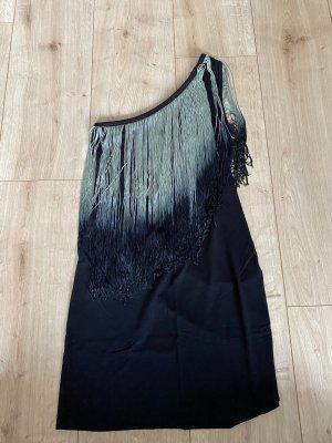 H&M Haut avec une épaule dénudée noir-vert menthe