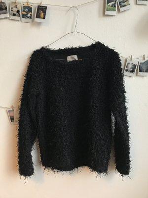 Fransen-Pullover von Minimum Gr. S schwarz