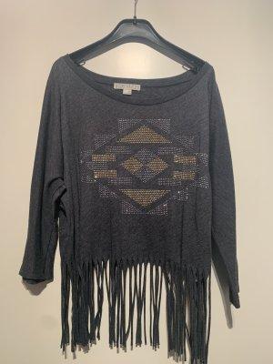 Fransen-Shirt Forever 21 Grau L