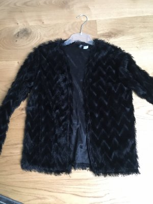 H&M Fringed Vest black