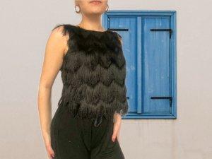 Zara Basic Haut évasé en bas noir