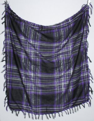 Traditional Scarf lilac-silver-colored