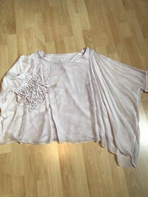 Fransenärmel Bluse mit Untershirt