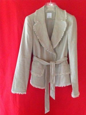 Alba Moda Korte blazer licht beige Gemengd weefsel