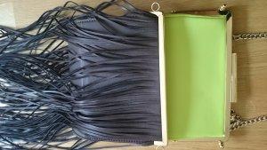 Zara Woman Bolso de flecos multicolor Imitación de cuero