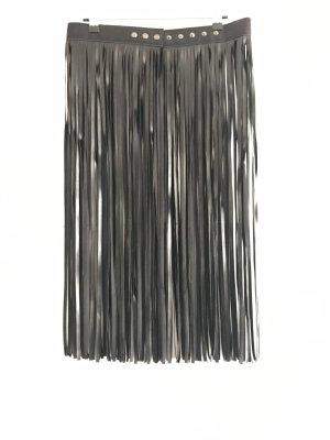 Cinturón de cuero de imitación negro