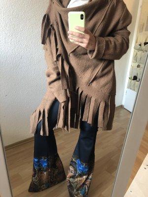 Veste polaire brun-marron clair