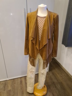 Only Pea Jacket cognac-coloured