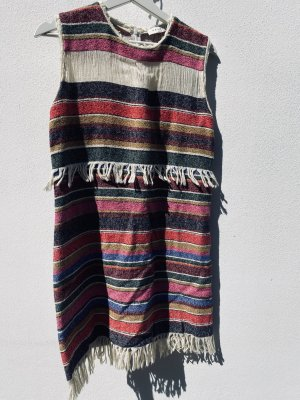 Sandro Paris Fringed Dress multicolored cotton
