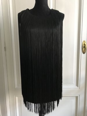 Elisabetta Franchi Fringed Dress black