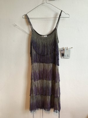 Promod Fringed Dress multicolored viscose