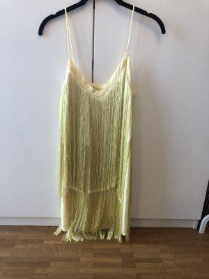 Zara Vestido con flecos multicolor