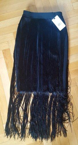 Fringed Skirt black