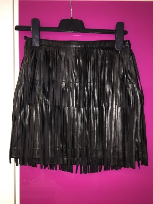 H&M Falda con flecos negro